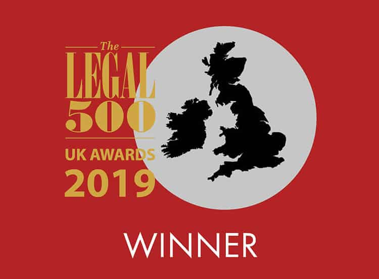 Legal 500 Awards 2019: winner